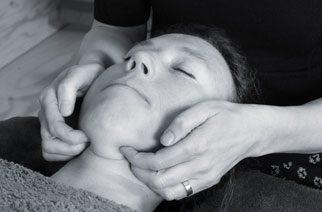 Woman receiving Craniosacral Therapy